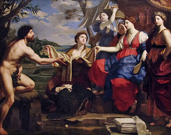 オデュッセウスとナウシカア