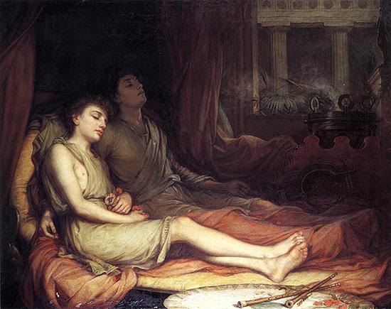 眠りの神ヒュプノスと死の神タナトス