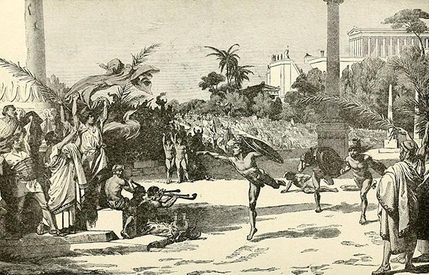 古代オリンピックの想像図
