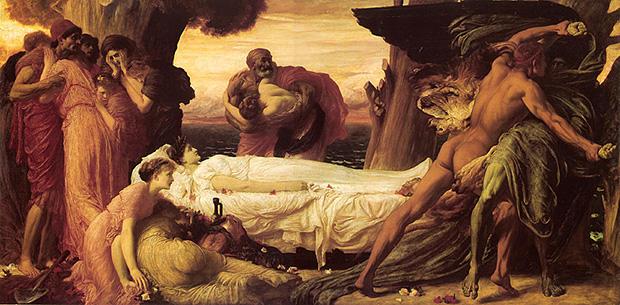 アルケスティスのために死神と戦うヘラクレス