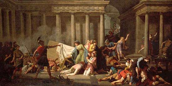 女中を罰するオデュッセウス