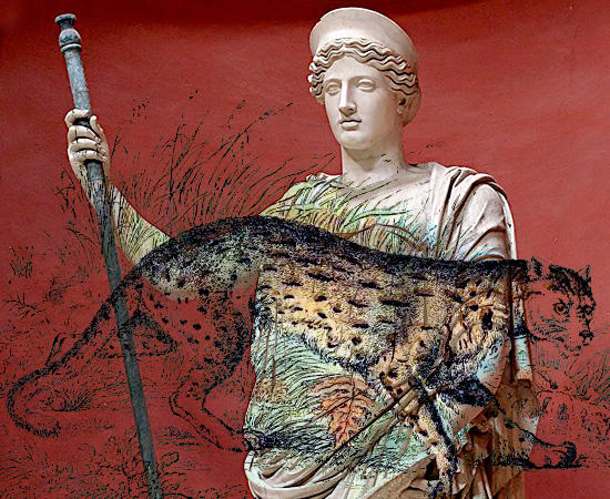 女神ケレス(ディーメーテール)と山猫